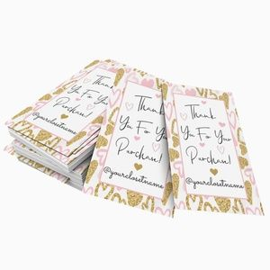 """Thank You Cards (50) with Personalization 2""""x3.5"""""""
